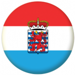 Luxembourg (Province of Belgium) Flag 25mm Pin Button Badge